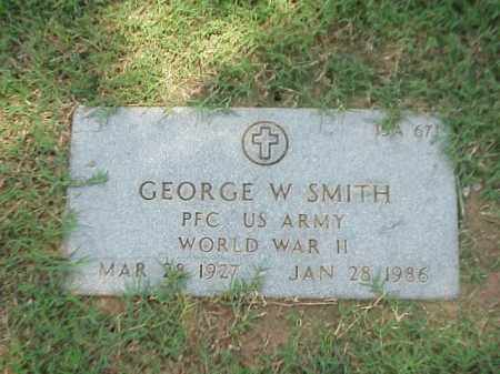 SMITH (VETERAN WWII), GEORGE W - Pulaski County, Arkansas | GEORGE W SMITH (VETERAN WWII) - Arkansas Gravestone Photos
