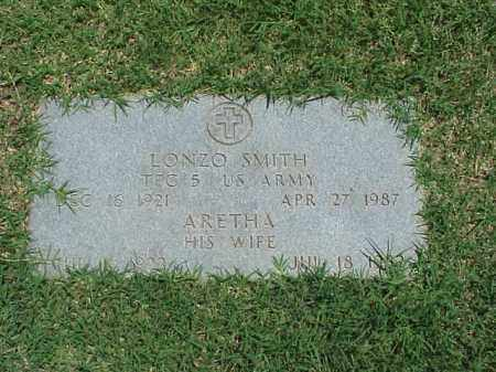 SMITH (VETERAN WWII), LONZO - Pulaski County, Arkansas | LONZO SMITH (VETERAN WWII) - Arkansas Gravestone Photos