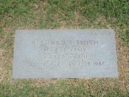 SMITH (VETERAN WWII), RICHARD S - Pulaski County, Arkansas | RICHARD S SMITH (VETERAN WWII) - Arkansas Gravestone Photos