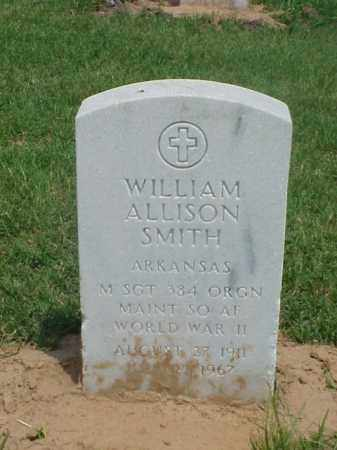 SMITH (VETERAN WWII), WILLIAM ALLISON - Pulaski County, Arkansas | WILLIAM ALLISON SMITH (VETERAN WWII) - Arkansas Gravestone Photos