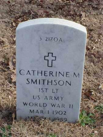 SMITHSON (VETERAN WWII), CATHERINE M - Pulaski County, Arkansas | CATHERINE M SMITHSON (VETERAN WWII) - Arkansas Gravestone Photos