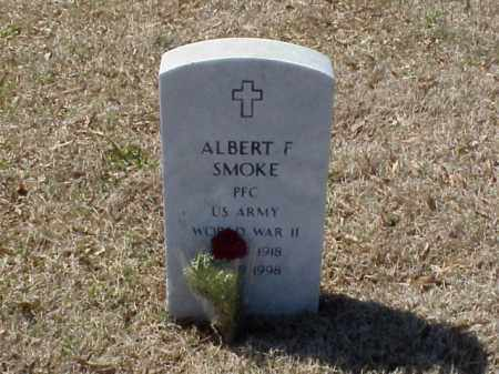 SMOKE (VETERAN WWII), ALBERT F - Pulaski County, Arkansas | ALBERT F SMOKE (VETERAN WWII) - Arkansas Gravestone Photos
