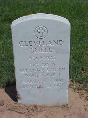 SNELL (VETERAN WWI), CLEVELAND - Pulaski County, Arkansas | CLEVELAND SNELL (VETERAN WWI) - Arkansas Gravestone Photos