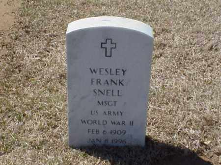 SNELL (VETERAN WWII), WESLEY FRANK - Pulaski County, Arkansas | WESLEY FRANK SNELL (VETERAN WWII) - Arkansas Gravestone Photos
