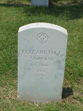 SNIPAN (VETERAN WWII), ELIZABETH L - Pulaski County, Arkansas | ELIZABETH L SNIPAN (VETERAN WWII) - Arkansas Gravestone Photos