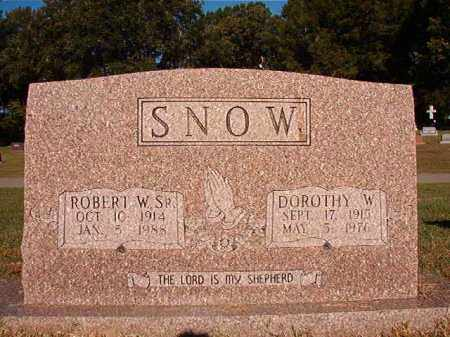 SNOW, DOROTHY W - Pulaski County, Arkansas | DOROTHY W SNOW - Arkansas Gravestone Photos