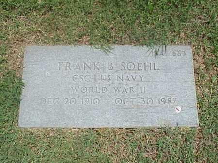 SOEHL (VETERAN WWII), FRANK B - Pulaski County, Arkansas | FRANK B SOEHL (VETERAN WWII) - Arkansas Gravestone Photos