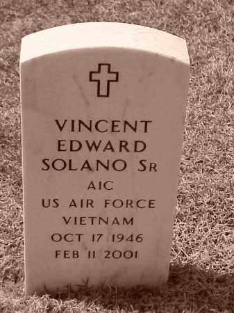 SOLANO, SR (VETERAN VIET), VINCENT EDWARD - Pulaski County, Arkansas | VINCENT EDWARD SOLANO, SR (VETERAN VIET) - Arkansas Gravestone Photos