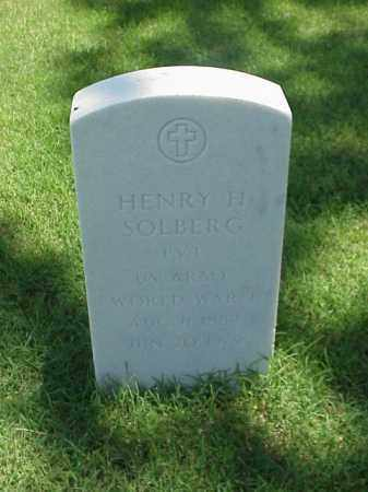 SOLBERG (VETERAN WWI), HENRY H - Pulaski County, Arkansas | HENRY H SOLBERG (VETERAN WWI) - Arkansas Gravestone Photos