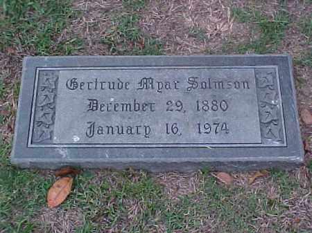 SOLMSON, GERTRUDE - Pulaski County, Arkansas | GERTRUDE SOLMSON - Arkansas Gravestone Photos