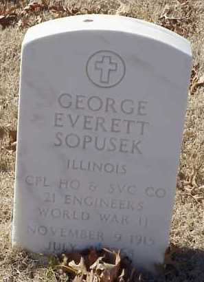 SOPUSEK  (VETERAN WWII), GEORGE EVERETT - Pulaski County, Arkansas | GEORGE EVERETT SOPUSEK  (VETERAN WWII) - Arkansas Gravestone Photos