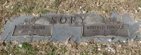 SORY, WINFRED EDWARD - Pulaski County, Arkansas | WINFRED EDWARD SORY - Arkansas Gravestone Photos