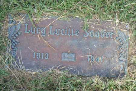 SOUDER, LUCY LUCILLE - Pulaski County, Arkansas | LUCY LUCILLE SOUDER - Arkansas Gravestone Photos
