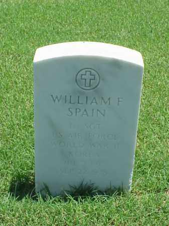SPAIN (VETERAN 2 WARS), WILLIAM F - Pulaski County, Arkansas | WILLIAM F SPAIN (VETERAN 2 WARS) - Arkansas Gravestone Photos