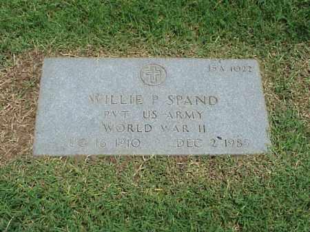 SPAND (VETERAN WWII), WILLIE P - Pulaski County, Arkansas | WILLIE P SPAND (VETERAN WWII) - Arkansas Gravestone Photos