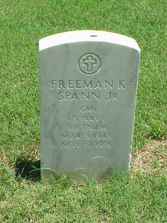 SPANN, JR (VETERAN VIET), FREEMAN K - Pulaski County, Arkansas | FREEMAN K SPANN, JR (VETERAN VIET) - Arkansas Gravestone Photos