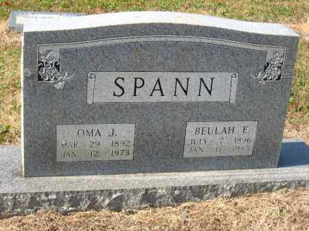 SPANN, OMA J - Pulaski County, Arkansas | OMA J SPANN - Arkansas Gravestone Photos