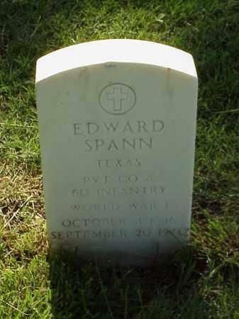SPANN (VETERAN WWI), EDWARD - Pulaski County, Arkansas | EDWARD SPANN (VETERAN WWI) - Arkansas Gravestone Photos