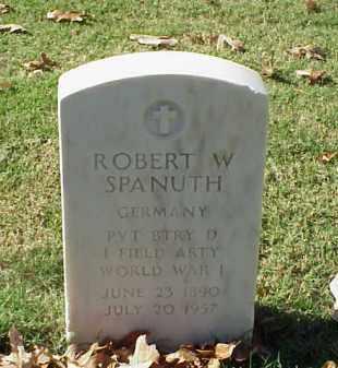SPANUTH (VETERAN WWI), ROBERT W - Pulaski County, Arkansas | ROBERT W SPANUTH (VETERAN WWI) - Arkansas Gravestone Photos