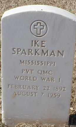 SPARKMAN  (VETERAN WWI), IKE - Pulaski County, Arkansas | IKE SPARKMAN  (VETERAN WWI) - Arkansas Gravestone Photos