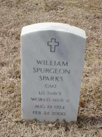 SPARKS   (VETERAN WWII), WILLIAM SPURGEON - Pulaski County, Arkansas | WILLIAM SPURGEON SPARKS   (VETERAN WWII) - Arkansas Gravestone Photos