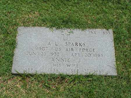 SPARKS (VETERAN 2 WARS), A L - Pulaski County, Arkansas | A L SPARKS (VETERAN 2 WARS) - Arkansas Gravestone Photos