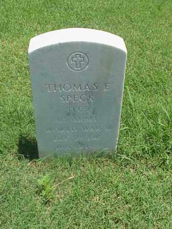 SPECK (VETERAN WWII), THOMAS E - Pulaski County, Arkansas | THOMAS E SPECK (VETERAN WWII) - Arkansas Gravestone Photos