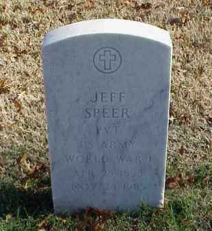 SPEER (VETERAN WWI), JEFF - Pulaski County, Arkansas | JEFF SPEER (VETERAN WWI) - Arkansas Gravestone Photos