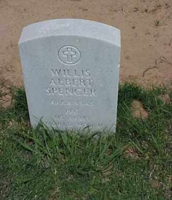 SPENCER (VETERAN WWII), WILLIS ALBERT - Pulaski County, Arkansas | WILLIS ALBERT SPENCER (VETERAN WWII) - Arkansas Gravestone Photos
