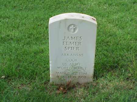 SPIER (VETERAN WWI), JAMES  ELMER - Pulaski County, Arkansas | JAMES  ELMER SPIER (VETERAN WWI) - Arkansas Gravestone Photos