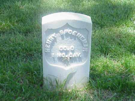 SPOENEMAN (VETERAN UNION), HENRY - Pulaski County, Arkansas | HENRY SPOENEMAN (VETERAN UNION) - Arkansas Gravestone Photos