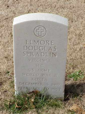 SPRADLIN (VETERAN 2 WARS), ELMORE DOUGLAS - Pulaski County, Arkansas | ELMORE DOUGLAS SPRADLIN (VETERAN 2 WARS) - Arkansas Gravestone Photos