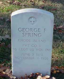 SPRING (VETERAN SAW), GEORGE F - Pulaski County, Arkansas | GEORGE F SPRING (VETERAN SAW) - Arkansas Gravestone Photos