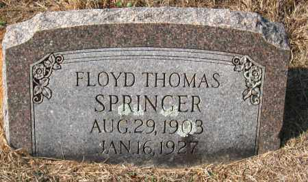 SPRINGER, FLOYD THOMAS - Pulaski County, Arkansas | FLOYD THOMAS SPRINGER - Arkansas Gravestone Photos