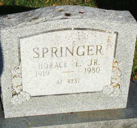 SPRINGER, JR., HORACE L. - Pulaski County, Arkansas   HORACE L. SPRINGER, JR. - Arkansas Gravestone Photos