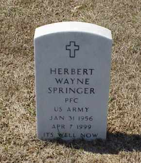 SPRINGER (VETERAN), HERBERT WAYNE - Pulaski County, Arkansas | HERBERT WAYNE SPRINGER (VETERAN) - Arkansas Gravestone Photos