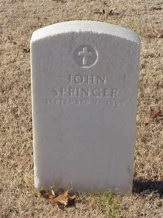 SPRINGER (VETERAN UNION), JOHN - Pulaski County, Arkansas | JOHN SPRINGER (VETERAN UNION) - Arkansas Gravestone Photos