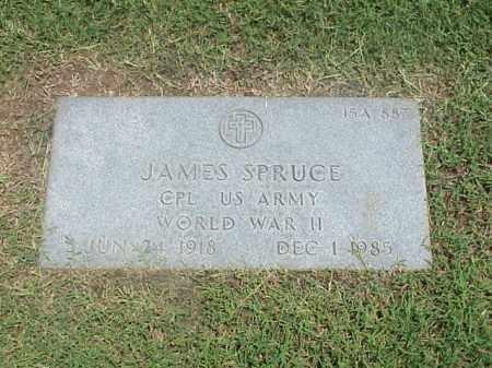SPRUCE (VETERAN WWII), JAMES - Pulaski County, Arkansas | JAMES SPRUCE (VETERAN WWII) - Arkansas Gravestone Photos