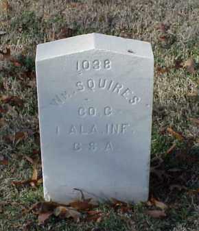 SQUIRES (VETERAN CSA), WILLIAM - Pulaski County, Arkansas | WILLIAM SQUIRES (VETERAN CSA) - Arkansas Gravestone Photos