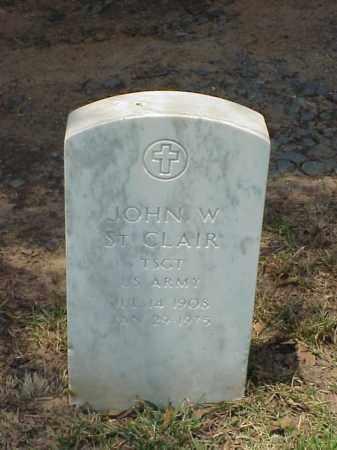 ST CLAIR (VETERAN WWII), JOHN W - Pulaski County, Arkansas | JOHN W ST CLAIR (VETERAN WWII) - Arkansas Gravestone Photos