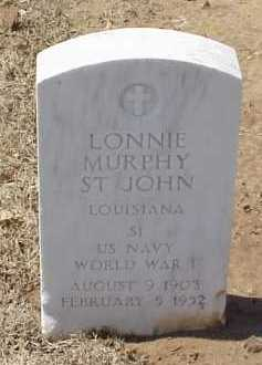 ST JOHN (VETERAN WWI), LONNIE MURPHY - Pulaski County, Arkansas | LONNIE MURPHY ST JOHN (VETERAN WWI) - Arkansas Gravestone Photos