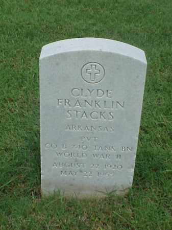 STACKS (VETERAN WWII), CLYDE FRANKLIN - Pulaski County, Arkansas | CLYDE FRANKLIN STACKS (VETERAN WWII) - Arkansas Gravestone Photos