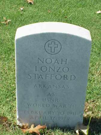 STAFFORD (VETERAN WWII), NOAH LONZO - Pulaski County, Arkansas | NOAH LONZO STAFFORD (VETERAN WWII) - Arkansas Gravestone Photos