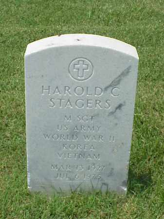 STAGERS (VETERAN 3 WARS), HAROLD C - Pulaski County, Arkansas | HAROLD C STAGERS (VETERAN 3 WARS) - Arkansas Gravestone Photos