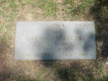 STAGGERS (VETERAN WWII), CARMELL - Pulaski County, Arkansas | CARMELL STAGGERS (VETERAN WWII) - Arkansas Gravestone Photos