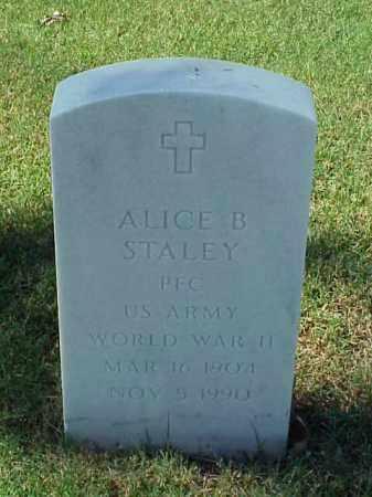 STALEY (VETERAN WWII), ALICE B - Pulaski County, Arkansas | ALICE B STALEY (VETERAN WWII) - Arkansas Gravestone Photos