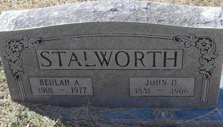 STALWORTH, JOHN D - Pulaski County, Arkansas | JOHN D STALWORTH - Arkansas Gravestone Photos