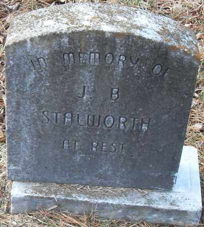 STALWORTH, J B - Pulaski County, Arkansas | J B STALWORTH - Arkansas Gravestone Photos
