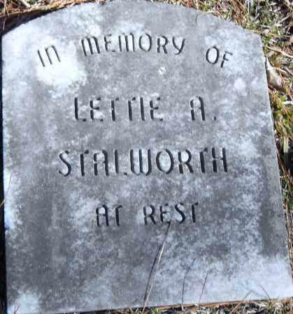 STALWORTH, LETTIE A - Pulaski County, Arkansas | LETTIE A STALWORTH - Arkansas Gravestone Photos