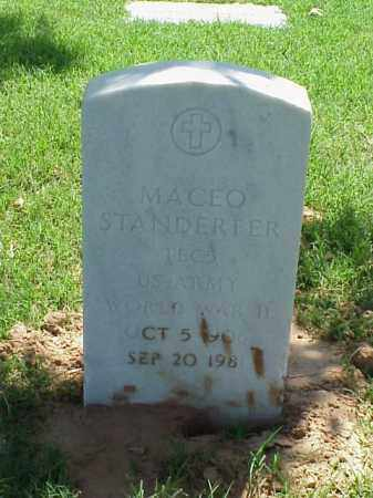 STANDERFER (VETERAN WWII), MACEO - Pulaski County, Arkansas | MACEO STANDERFER (VETERAN WWII) - Arkansas Gravestone Photos